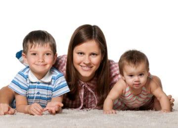 čištění koberců po dětech