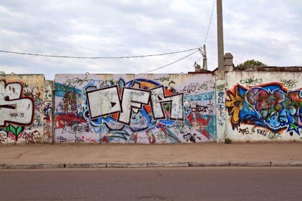 Posprejované zdi od sprejerů